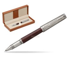 Parker Premier Crimson Red RT T2016 Rollerball Pen  in classic box brown