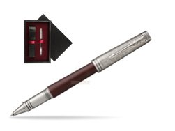 Parker Premier Crimson Red RT T2016 Rollerball Pen  single wooden box  Black Single Maroon