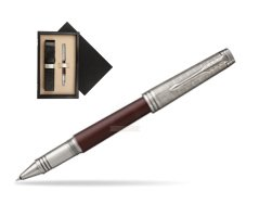 Parker Premier Crimson Red RT T2016 Rollerball Pen  single wooden box  Wenge Single Ecru