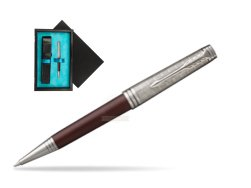 Parker Premier Crimson Red RT T2016 Ballpoint Pen  single wooden box  Black Single Turquoise