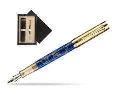 Parker Duofold Limited Edition 130th Anniversary Fountain Pen  single wooden box  Wenge Single Ecru