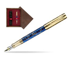 Parker Duofold Limited Edition 130th Anniversary Fountain Pen  single wooden box  Wenge Single Maroon