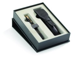 Parker Sonnet Black GT Fountain Pen in Gift Box with case