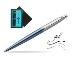 Jotter gel blue Waterloo CT T2016 Ballpoint pen  single wooden box  Black Single Turquoise