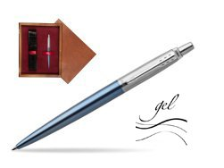 Jotter gel blue Waterloo CT T2016 Ballpoint pen  single wooden box Mahogany Single Maroon