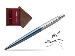 Jotter gel blue Waterloo CT T2016 Ballpoint pen  single wooden box  Wenge Single Maroon
