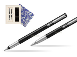 Parker Vector Standard Black Fountain Pen + Parker Vector Standard Black Ballpoint Pen in a Gift Box  Universal Crystal Blue