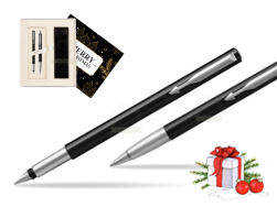 Parker Vector Standard Black Fountain Pen + Parker Vector Standard Black Ballpoint Pen in a Gift Box  Magic of Christmas