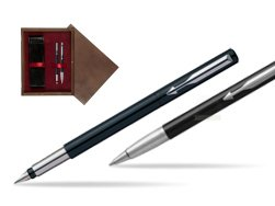 Parker Vector Standard Black Fountain Pen + Parker Vector Standard Black Ballpoint Pen in a Gift Box  double wooden box Wenge Double Maroon