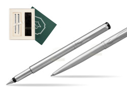 "Parker Vector Stainless Steel CT Fountain Pen + Parker Vector Stainless Steel CT Ballpoint Pen  ""Science"""