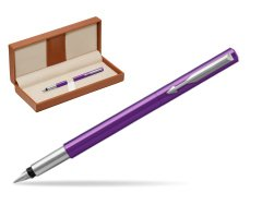 Parker Vector Purple Fountain Pen  in classic box brown