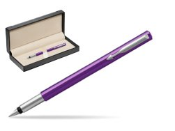 Parker Vector Purple Fountain Pen  in classic box  black