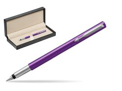 Parker Vector Purple Fountain Pen  in classic box  pure black