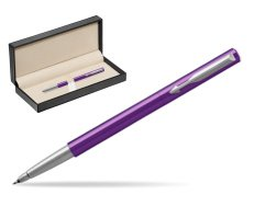 Parker Vector Purple Rollerball Pen  in classic box  pure black