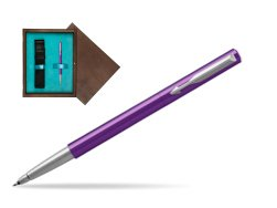 Parker Vector Purple Rollerball Pen  single wooden box  Wenge Single Turquoise
