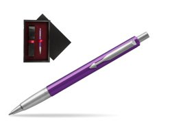 Parker Vector Purple Ballpoint Pen  single wooden box  Black Single Maroon