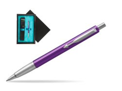 Parker Vector Purple Ballpoint Pen  single wooden box  Black Single Turquoise