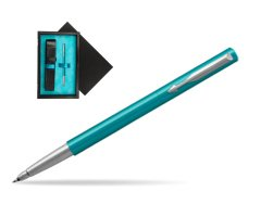 Parker Vector Turquise Rollerball Pen  single wooden box  Black Single Turquoise