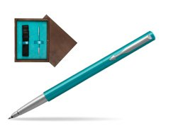 Parker Vector Turquise Rollerball Pen  single wooden box  Wenge Single Turquoise