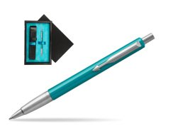 Parker Vector Turquise Ballpoint Pen  single wooden box  Black Single Turquoise