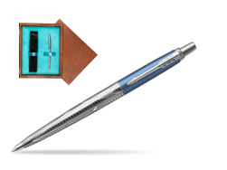 Parker Jotter London Architecture Skyblue Modern CT Ballpoint Pen  single wooden box  Mahogany Single Turquoise