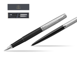 Parker Jotter Bond Street Black CT T2016 Fountain Pen + Ballpoint Pen in a Gift Box