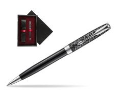 Parker Sonnet Black CT 18K (Metro) Ballpoint Pen  single wooden box  Black Single Maroon