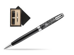 Parker Sonnet Black CT 18K (Metro) Ballpoint Pen  single wooden box  Wenge Single Ecru