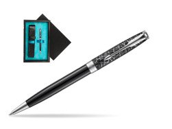 Parker Sonnet Black CT 18K (Metro) Ballpoint Pen  single wooden box  Black Single Turquoise
