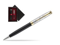 Parker Sonnet Black Gt 18 K (Transit) Ballpoint Pen  single wooden box  Black Single Maroon