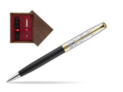 Parker Sonnet Black Gt 18 K (Transit) Ballpoint Pen  single wooden box  Wenge Single Maroon