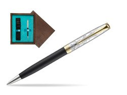 Parker Sonnet Black Gt 18 K (Transit) Ballpoint Pen  single wooden box  Wenge Single Turquoise