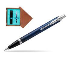 Parker IM Blue Origin Special Edition Ballpoint Pen  single wooden box  Mahogany Single Turquoise