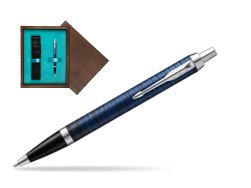 Parker IM Blue Origin Special Edition Ballpoint Pen  single wooden box  Wenge Single Turquoise
