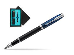 Parker IM Blue Origin Special Edition Rollerball Pen  single wooden box  Black Single Turquoise