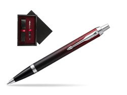 Parker IM Red Ignite Special Edition Ballpoint Pen  single wooden box  Black Single Maroon