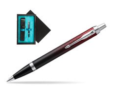 Parker IM Red Ignite Special Edition Ballpoint Pen  single wooden box  Black Single Turquoise