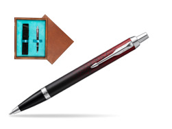 Parker IM Red Ignite Special Edition Ballpoint Pen  single wooden box  Mahogany Single Turquoise