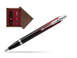 Parker IM Red Ignite Special Edition Ballpoint Pen  single wooden box  Wenge Single Maroon