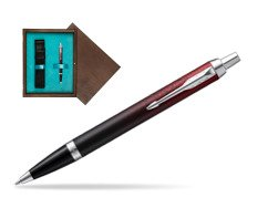 Parker IM Red Ignite Special Edition Ballpoint Pen  single wooden box  Wenge Single Turquoise