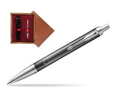 Parker IM Metallic Pursuit Special Edition Ballpoint Pen  single wooden box Mahogany Single Maroon