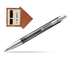 Parker IM Metallic Pursuit Special Edition Ballpoint Pen  single wooden box  Mahogany Single Ecru