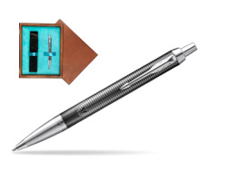 Parker IM Metallic Pursuit Special Edition Ballpoint Pen  single wooden box  Mahogany Single Turquoise