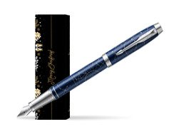 Parker Im Midnight Astral Special Edition Fountain Pen in cover Golden Tree