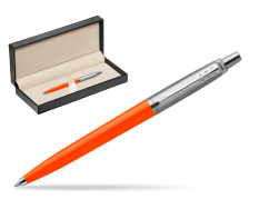 Parker Jotter Originals Orange Ballpoint Pen  in classic box  pure black