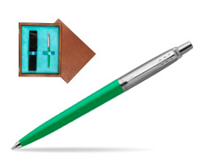 Parker Jotter Originals Green  Ballpoint Pen  single wooden box  Mahogany Single Turquoise