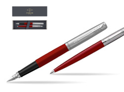 Parker Jotter Originals Red CT T2016 Fountain Pen + Ballpoint Pen in a Gift Box