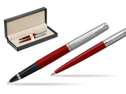 Parker Jotter Originals Red CT T2016 Rollerball Pen + Ballpoint Pen in a Gift Box  in classic box  pure black