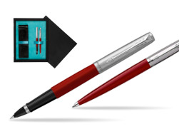 Parker Jotter Originals Red CT T2016 Rollerball Pen + Ballpoint Pen in a Gift Box  double wooden box Black Double Turquoise