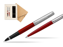 Parker Jotter Originals Red CT T2016 Rollerball Pen + Ballpoint Pen in a Gift Box in Standard 2